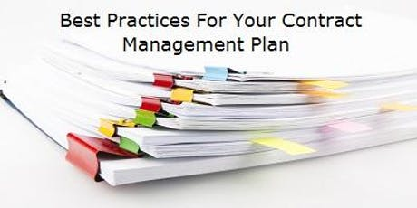 Best Practice - Contract Management - 3 Hour CE & 25 Hour Post Peachtree Corners Evening Class tickets