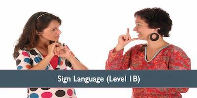 Sign Language (Level 1B) - October 2019