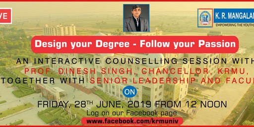 Counselling Session with Prof. Dinesh Singh, Chancellor, KRMU