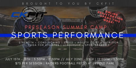 Preseason Sports Performance Camp tickets