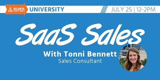 Atlanta Ventures University - SaaS Sales with Tonni Bennett