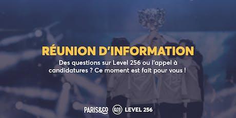 Réunion d'information - AAC Level 256 billets