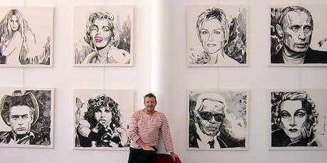 DECROCHAGE EXPOSITION YVON KERGAL : Portraits d'icônes - MERCREDI 10 JUILLET billets