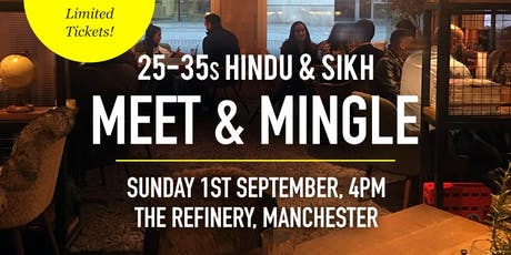 Hindu & Sikh Meet and Mingle Social Evening - 25-35s | Manchester tickets