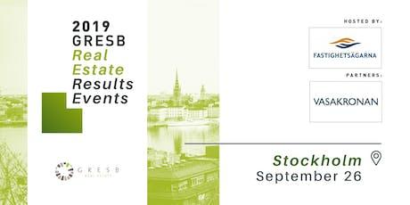 2019 GRESB Real Estate Results | Stockholm tickets