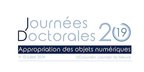 Journées Doctorales 2019 - Appropriation des objets numériques billets