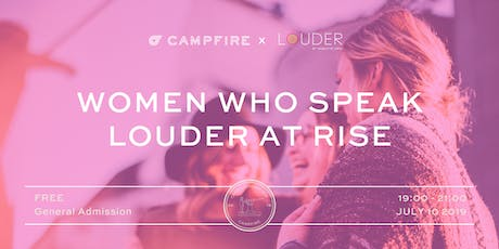 Women who speak LOUDER at RISE tickets