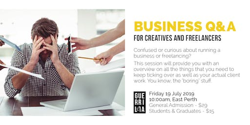 BUSINESS Q&A FOR CREATIVES