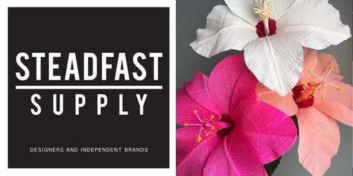 Paper Hibiscus Flower Making Workshop, Taught by Revery Paper Flora