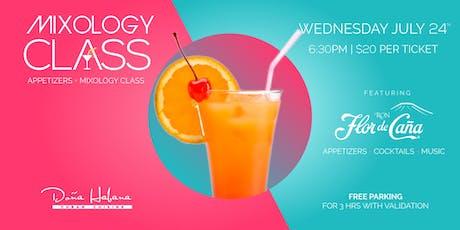 Mixology Class + Appetizers - Featuring Flor de Caña tickets