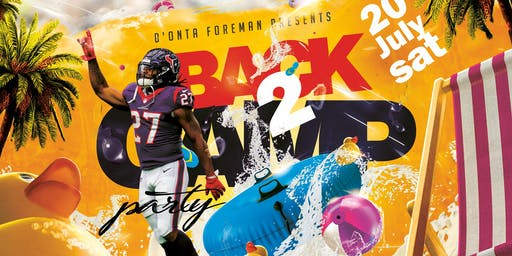 D'Onta Foreman Back 2 Camp Pool Party
