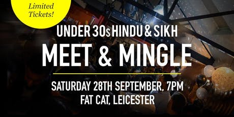 Hindu & Sikh Meet and Mingle Social Evening - Under 30s | Leicester tickets