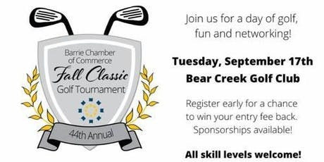 Barrie Chamber of Commerce - Fall Classic Golf Tournament tickets