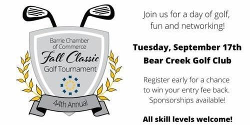 Barrie Chamber of Commerce - Fall Classic Golf Tournament