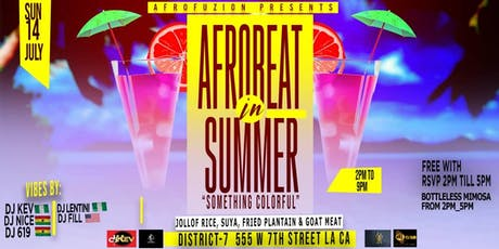"""AFROBEAT IN SUMMER """"SOMETHING COLORFUL"""" tickets"""