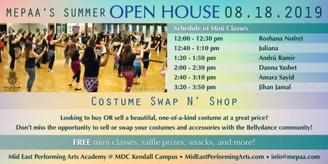 MEPAA Open House! Free Belly Dance Classes tickets