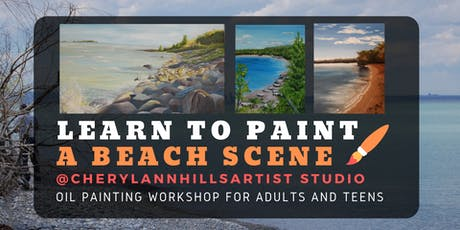 Learn to Paint a Beach - Oil Painting Workshop tickets