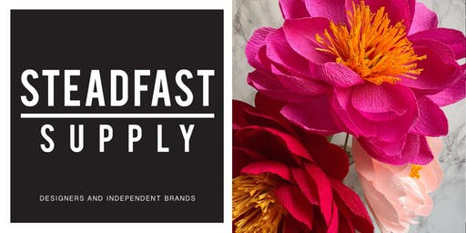 Paper Peony Flower Making Workshop, Taught by Revery Paper Flora