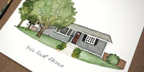 Watercolor Home Portrait Class- October 5 tickets