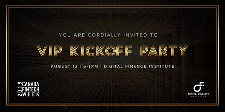VIP Kickoff Party - Canada FinTech Week tickets