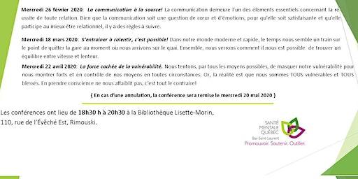 SMQ-BSL :Conférence populaire: La communication à la source!