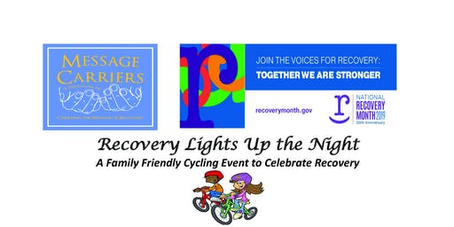 Recovery Lights Up the Night Bike Ride