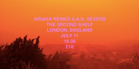 Ariana Reines X The Second Shelf tickets
