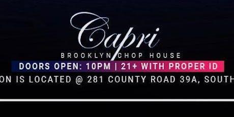 Capri Club Southampton 7/5  tickets