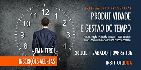 WORKSHOP PRODUTIVIDADE E GESTÃO DO TEMPO - TURMA 2-2019 ingressos
