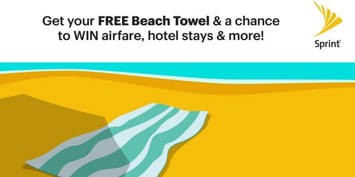 Free Beach Towels & More at Sprint!