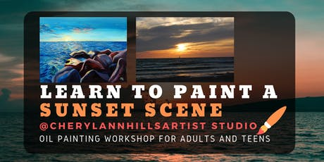 Learn to Paint a Sunset - Oil Painting Workshop tickets