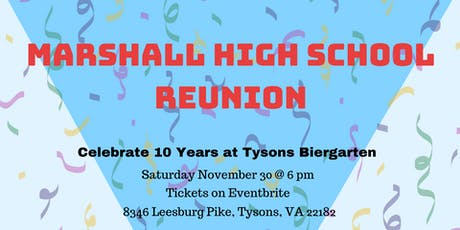 Marshall High School 10 Year Reunion at Tyson's Biergarten  tickets