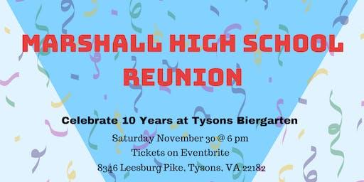 Marshall High School 10 Year Reunion at Tyson's Biergarten