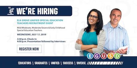 EGUSD Special Education Teachers Recruitment Event tickets