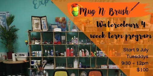 Watercolours For All skill levels - Adults. 4  wee