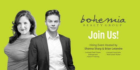 Bohemia Realty Group is Hiring - 9/4 tickets