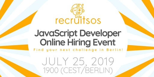 International Job Fair for Front-End JavaScript Developers - Berlin (Online)