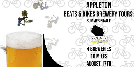 Beat's & Bikes Brewery Tours Final Appleton Ride tickets