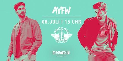 Tagesticket + Dockers Fashion Show @ AYFW, Samstag, 06. Juli 2019, 15 Uhr