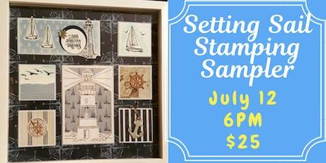 Setting Sail Stamping Sampler tickets