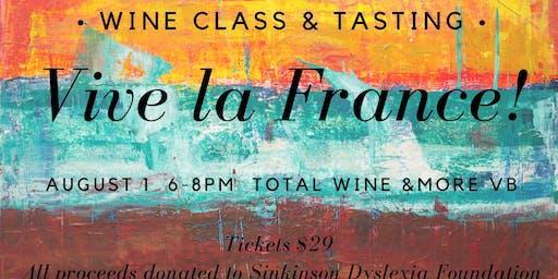 Wine Class & Tasting