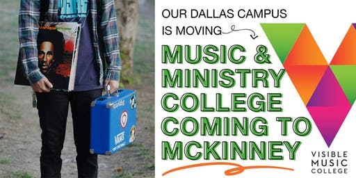 Celebrate Visible Music College moving to McKinney, TX!