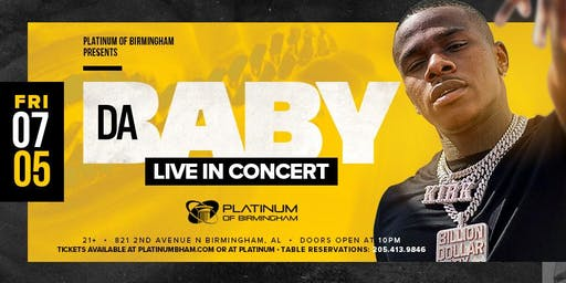 DaBaby Live In Concert July 5th