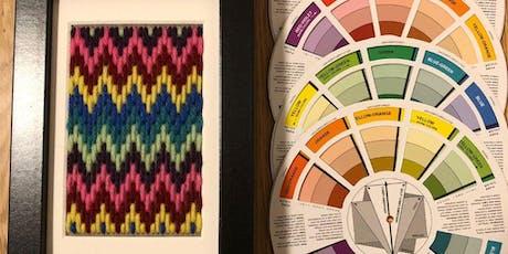 Colourwheel Bargello Stitching tickets