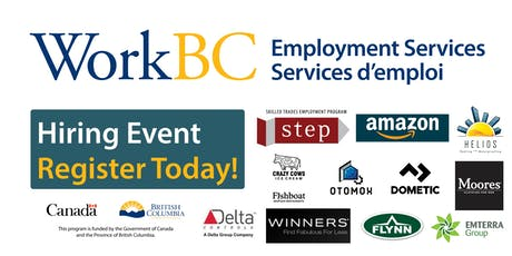 WorkBC South Surrey-White Rock Job Fair-Construction, Retail, Manufacturing tickets