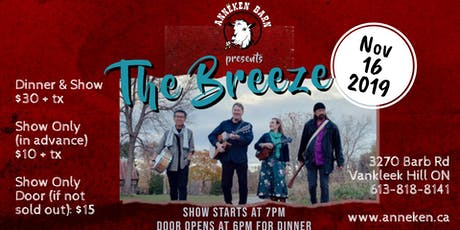Live Music with THE BREEZE tickets