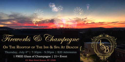 FIREWORKS & CHAMPAGNE on the ROOFTOP of The Inn And Spa At Beacon