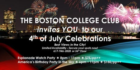 Boston College Club's 4th of July Celebration tickets