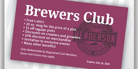 Join the Brewers Club Party! tickets