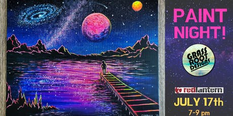 Galactic Wonderland | Paint Night at Red Lantern! tickets